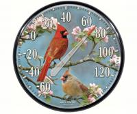 AcuRite James Hautman Cardinals in Dogwood Thermometer