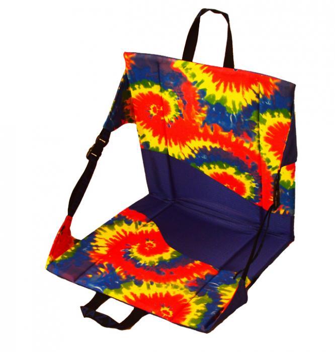 Crazy Creek Original Chair/Stadium Seat, Tie-Dye/Royal Blue