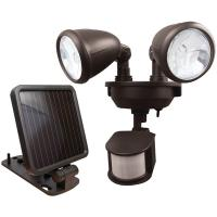 Maxsa Innovations 44216 Dual-Head Solar Spotlight (Dark Bronze)