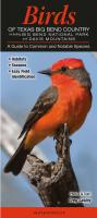 Quick Reference Publishing Birds of Texas Big Bend