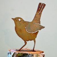 Elegant Garden Design Baby Robin Bird Silhouette