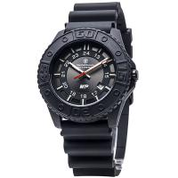 Smith & Wesson M&P Tritium Watch - Black Face & Black Stainless Strap