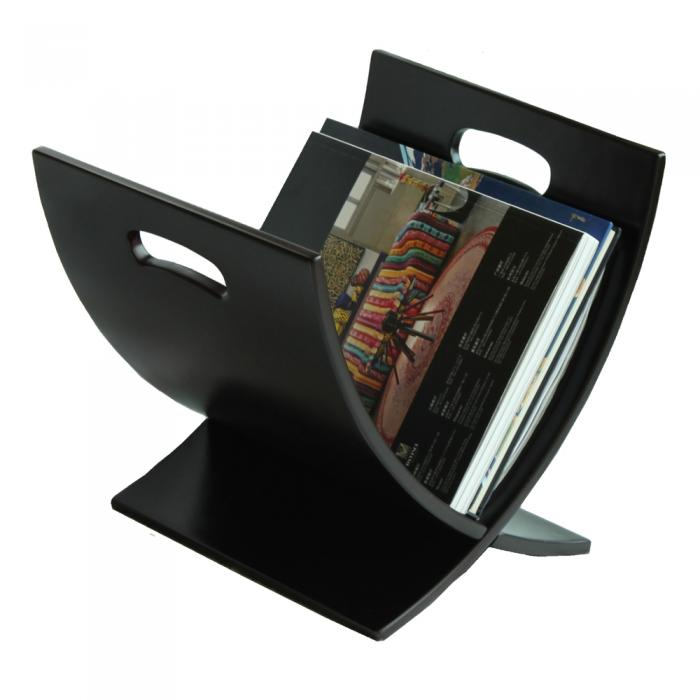 Ocean Star Design Contemporary Espresso Finish Wooden Magazine Rack