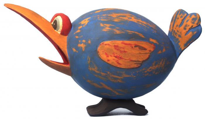 Songbird Essentials Blue & Orange Loony Bird Birdhouse