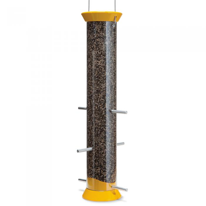 "Droll Yankees New Generation 15"" Finch Flocker Tube Bird Feeder"