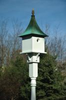 Heartwood Valerie Ann Birdhouse, White with Copper Roof