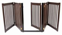 Walk Through 5 Panel Free Standing Pet Gate - Mahogany