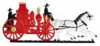 """30"""" Fire Wagon Weathervane - Garden Color"""