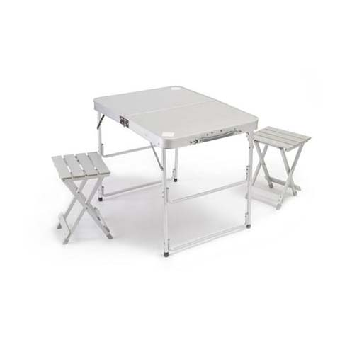 Picnic Master Mini All Aluminum Folding Table With 2 Chairs