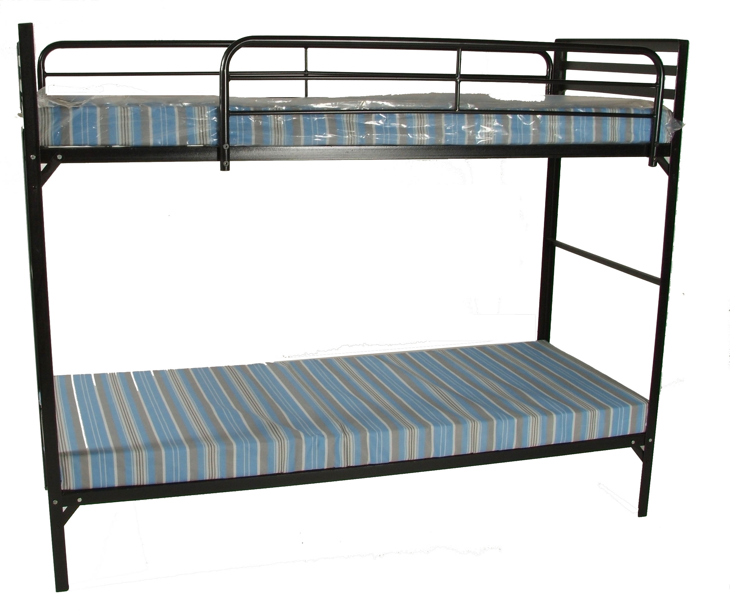 Blantex camp style institutional bunk beds w mattress Bed with mattress