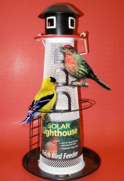 No-No Feeder Solar Lighthouse
