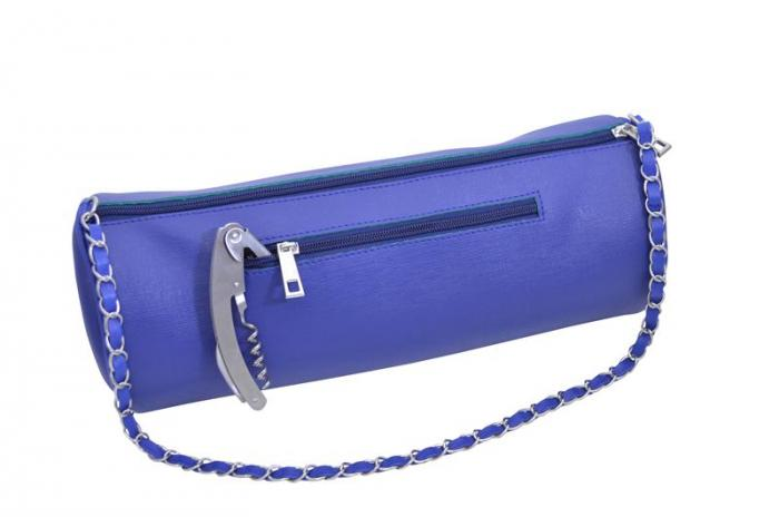 Picnic Gift - GGWP - Navy Blue Insulated Single Bottle Wine Purse