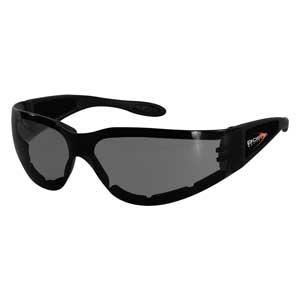 Bobster Action Eyewear Shield II Sunglass, Black Frame, Clear Lens