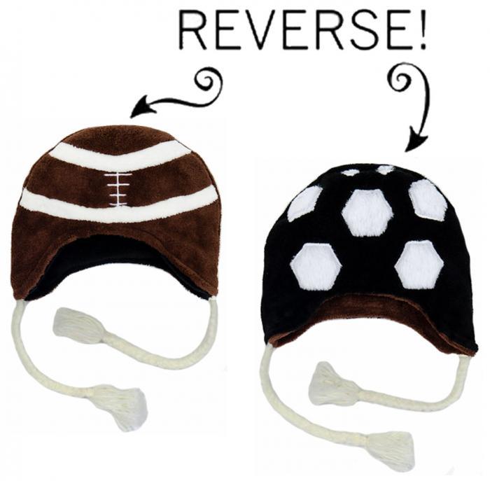 Luvali Convertibles Football/Soccer Reversible Kid's Winter Hat, Large