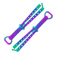 """Fury Sporting Cutlery """"The Barfly"""" Butterfly Bottle Opener-Titanium Rainbow"""