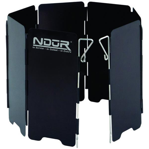 NDuR Mini Stove Windshield w/Carry Bag, Black, Large