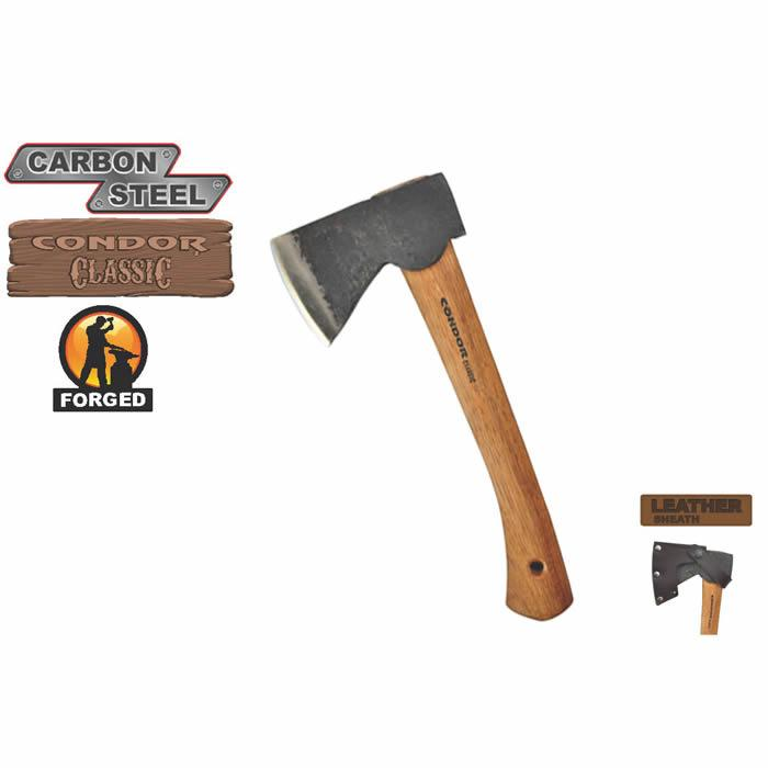 Condor Tool and Knife Scout Hatchet, Leather Sheath