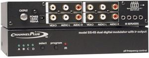 Channel Plus 5545 Deluxe Modulator Series with Infrared Emitter Ports (Quad-Source)