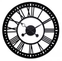 Indoor Black Skeleton  Tower Wall Clock with No Background - 38 Inch Diameter