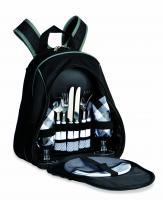 Picnic Plus Fairmount 2-Person Picnic Backpack, Black