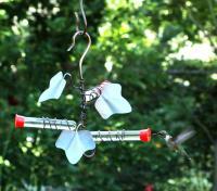 Songbird Essentials 3 Tubes Copper Ivy Hummingbird Bird Feeder