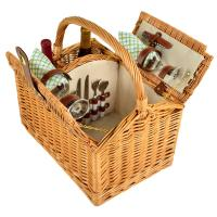 Picnic at Ascot Vineyard Willow Picnic Basket with Service for 2 - Gazebo
