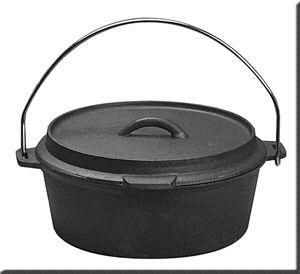 Preseasoned Cast Iron Camping Dutch Oven