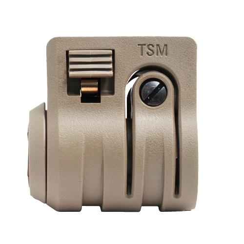 "Mission First Tactical Torch Light/Laser Mount Standard to 1"",  Scorched Dark Earth"
