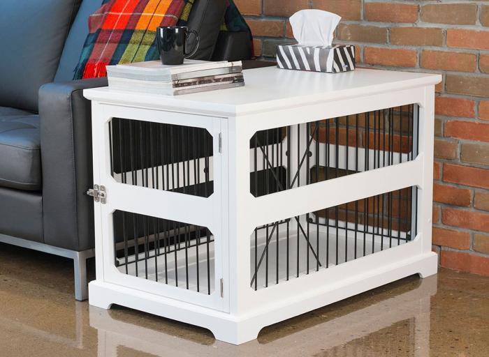 Slide Aside Crate And End Table, White