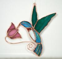 Gift Essentials Hummingbird with Pink Flower Sun Catcher