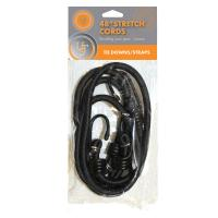 "Stretch Cord - 48"" 2-pack, Black"