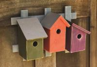 Heartwood Trellis Trio- Traditional Trio Bird Houses