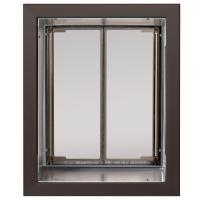 PlexiDor Large Exterior Wall Unit Performance Pet Door, Bronze