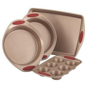 Rachael Ray 4-Pc Cucina Bakeware Set (Red)