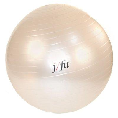 J/Fit Stability Exercise Ball 65 cm with Pump, Pearl White