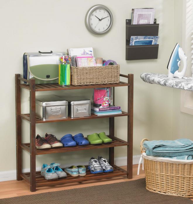 Merry Products 4 Tier Outdoor Shoe Rack