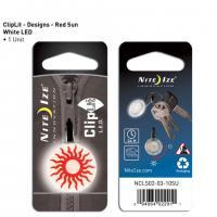 NITE IZE ClipLit Designs - Red Sun