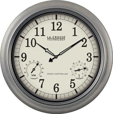 "La Crosse Technology 18"" Metal Atomic Analog Wall Clock"
