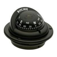 Ritchie TR-35 Trek Compass - Flush Mount - Black