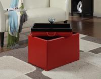 Designs2Go Accent Storage Ottoman (Red)