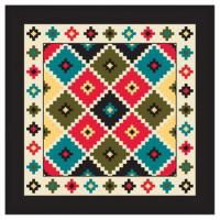 Liberty Mountain Southwest Argyle Bandana w/ Black Trim
