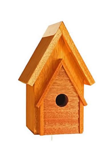Heartwood Wrental House Birdhouse, Mahogany