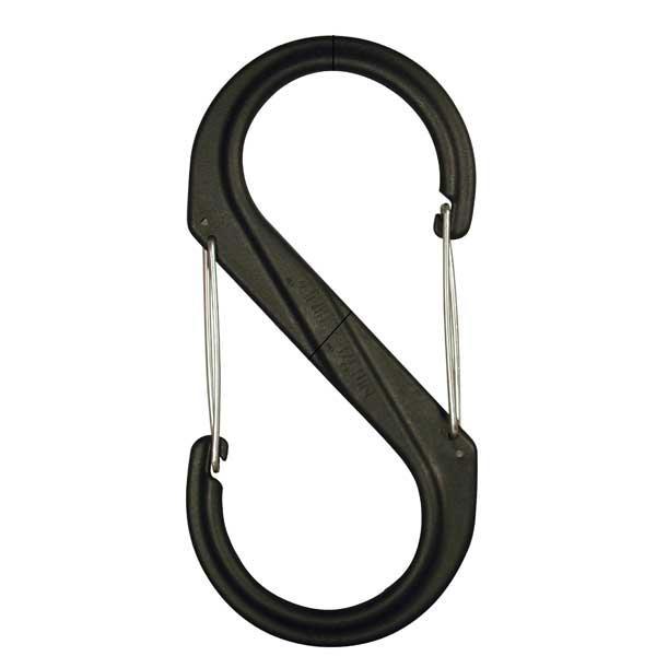 Nite-ize S-Biner Plastic, Size #2, Black with Black Gates