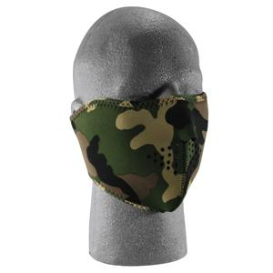 Cold Weather Headwear Neoprene 1/2 Face Mask, Woodland Camouflage