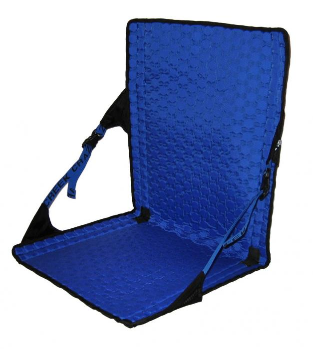 Crazy Creek HEX 2.0 LongBack Chair, Black/Royal Blue