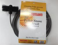 "Rutland 4"" Pellet Stove Brush w/ 20' Flexible Handle"