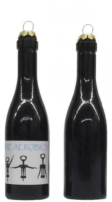 Wine Aerobics Clever Saying Ornament