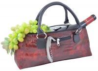 Primeware Wine Clutch - Burgundy Croc