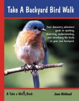 Independent Publishing Take a Backyard Bird Walk