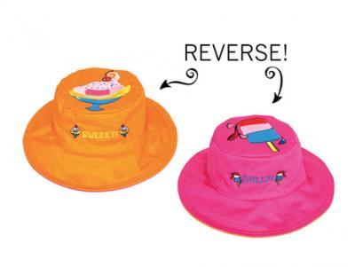 Luvali Convertibles Sundae/Popsicle Reversible Kids' Hat Small